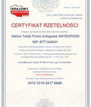 antroposs-certyfikat-rzetelna firma