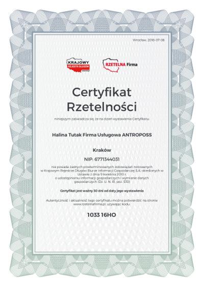 H .Tutak - Antroposs - Polski Orzel Biznesu