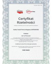 Certyfikat Rzetelnosci Firma Uslugowa ANTROPOSS [PL]