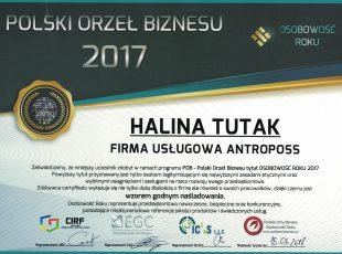 8.polski orzeł biznesu – antropos halina tutak