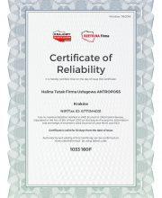 Certyfikat Rzetelnosci Firma Uslugowa ANTROPOSS [EN]